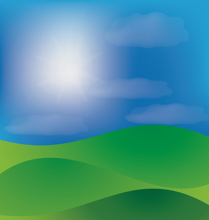 prairie: Mountains hills background template Illustration