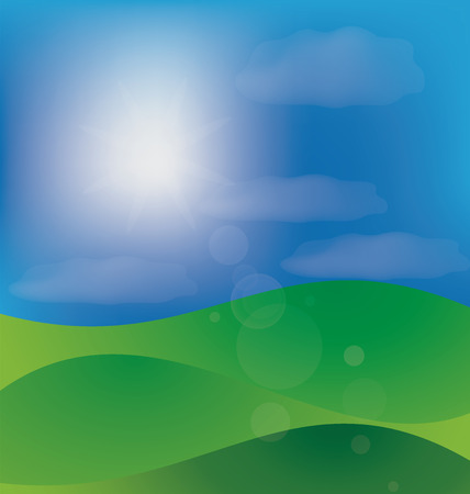 Mountains hills background template Illustration