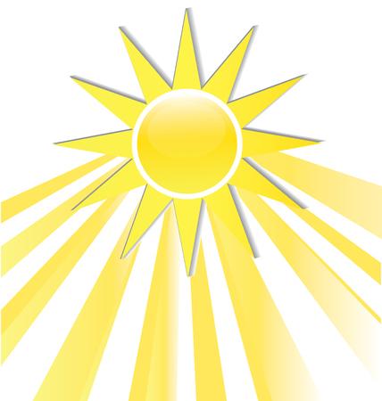 Sun rays icon logo