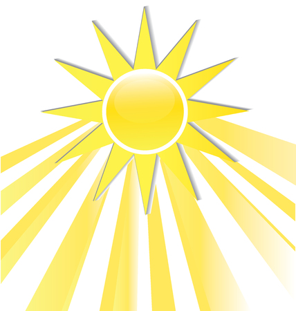 website: Sun rays icon logo