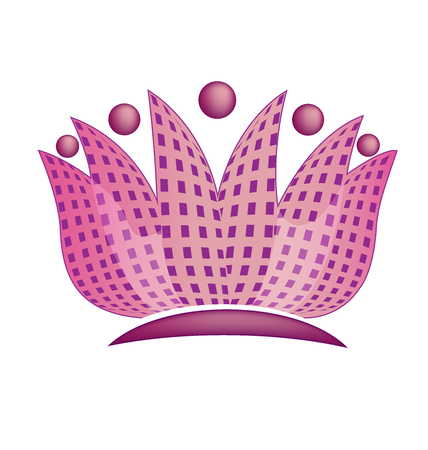 people icon: Abstract lotus flower vector image logo
