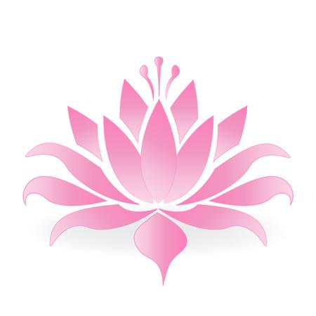 Diseño de vector de logotipo de flor de loto Foto de archivo - 75479194