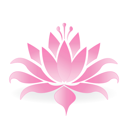 Lotus flower logo vector design 版權商用圖片 - 75479194