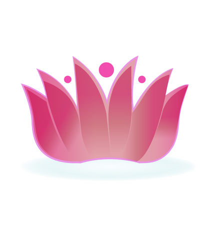 Lotus flower design logo vector Illustration