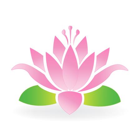 Blossom lotus flower logo vector Ilustracja