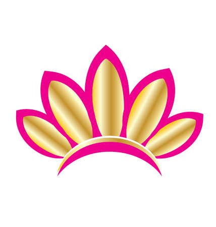 leaf: Beautiful lotus flower logo vector