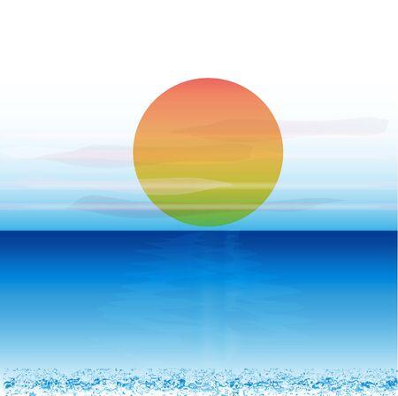 Blue ocean background vector