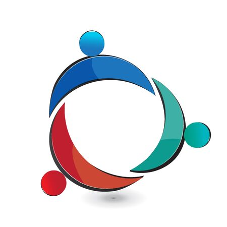 logo vector: Teamwork union people logo vector design