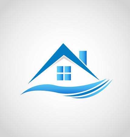 imagen del logotipo de vectores icono de la casa inmobiliaria