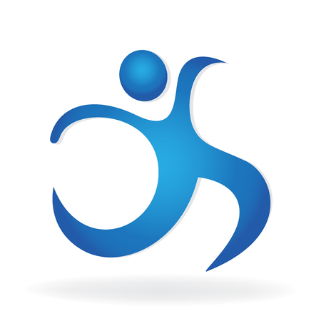 Abstract healthy fitness figure icon logo vector image