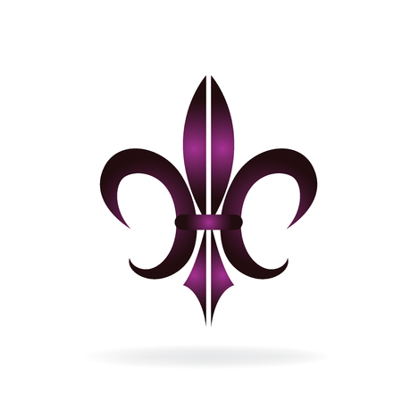 abstract flowers: Fleur De Lis. New Orleans symbol flower logo icon vector image template Illustration