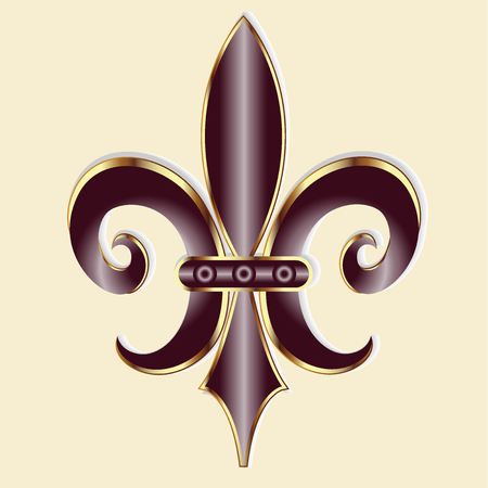 shiny: Fleur De Lis. New Orleans symbol flower logo icon vector image template Illustration