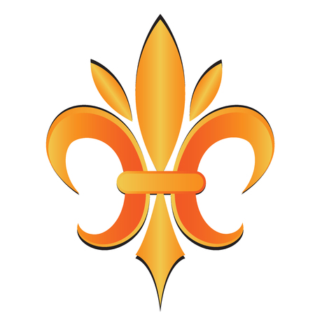 Fleur De Lis symbol flower logo icon vector image template