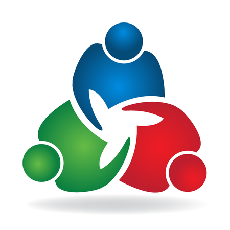 help: Teamwork handshake business people logo icon vector image
