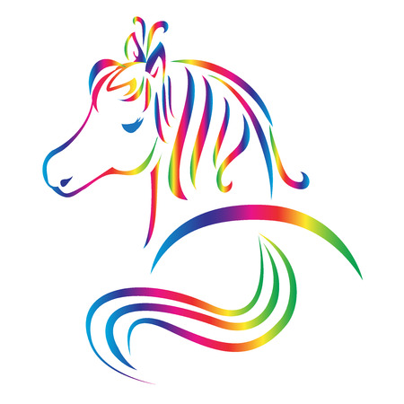 Beautiful horse logo vector