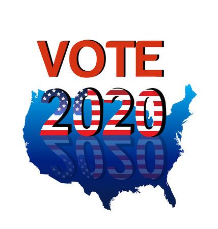 the americas: Vote 2020 USA Map