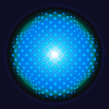 Blue sphere background  design