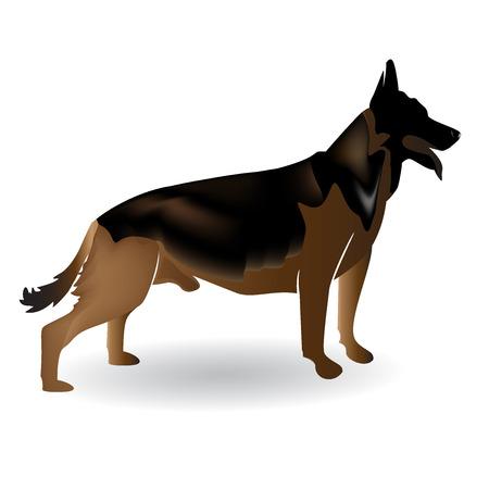 German Shepard dog logo image