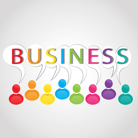 Business people logo vector image Illustration