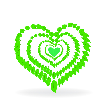 love image: Herbal love veggies symbol logo vector image