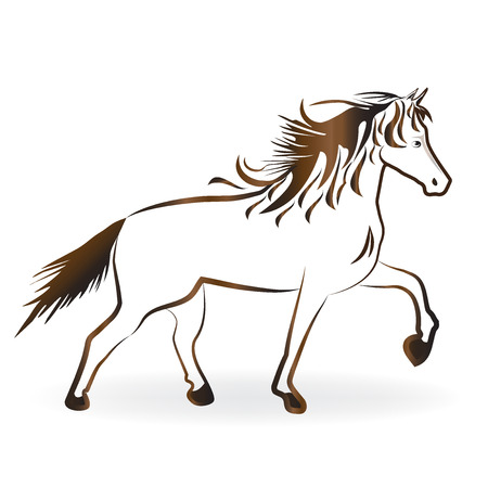 country: A beautiful horse vector