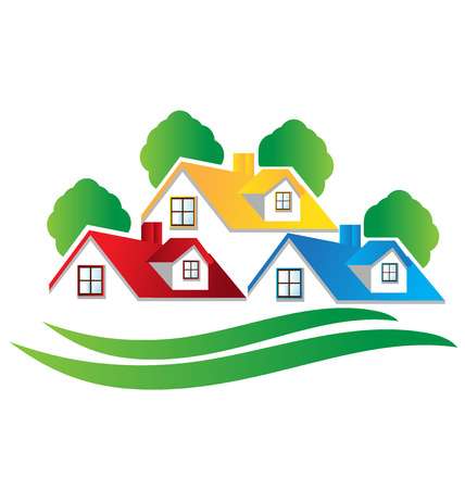 Houses real estate image logo vector design