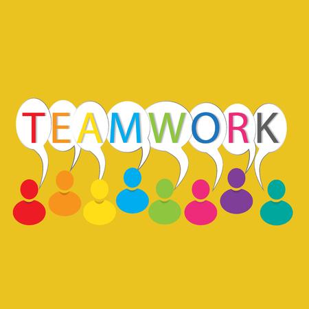 Teamwork people colorful