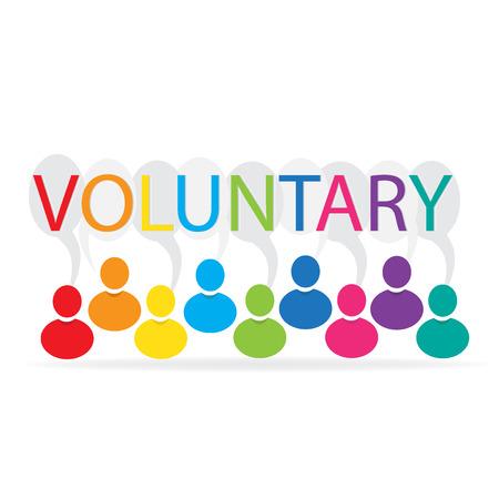 rainbow: Voluntary people Illustration