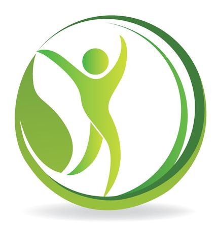 beautiful men: Health nature identity business card logo vector image