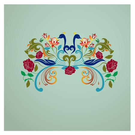 Diseño floral del logotipo de la imagen de la vintage