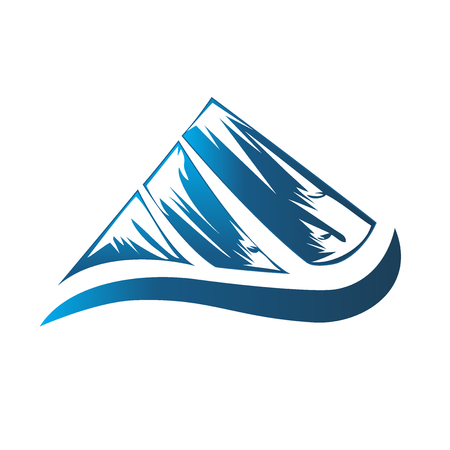 line drawings: Logo blue mountain Illustration