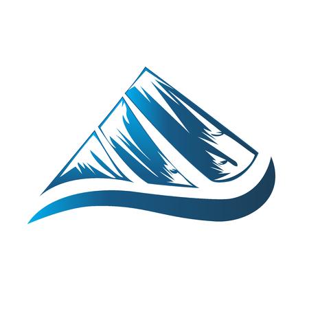 wilderness area: Logo blue mountain Illustration