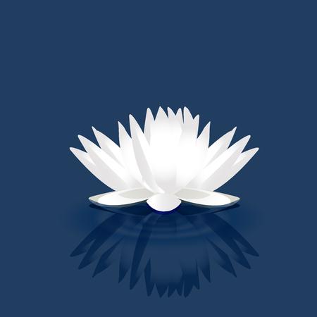 White lotus vector image logo