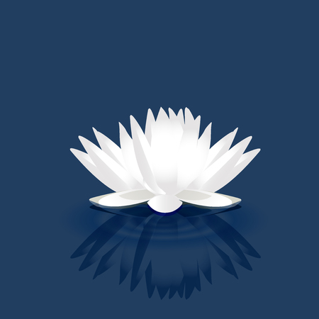 salon and spa: White lotus vector image logo