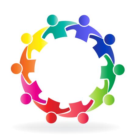 Logo di persone di comunità di squadra di lavoro di squadra Archivio Fotografico - 79818665