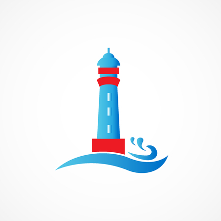 sports application: Lighthouse vector icon graphic design business logo