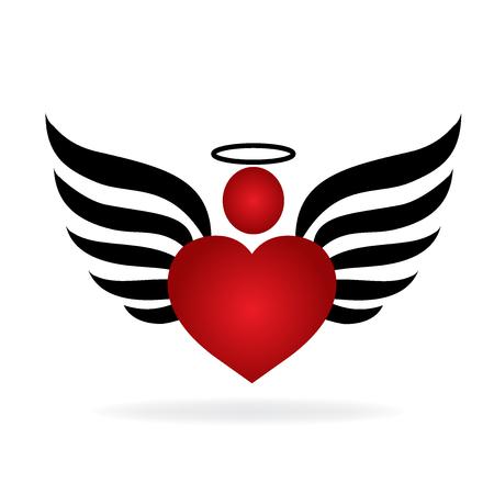 Ange de l'amour logo Banque d'images - 80188112