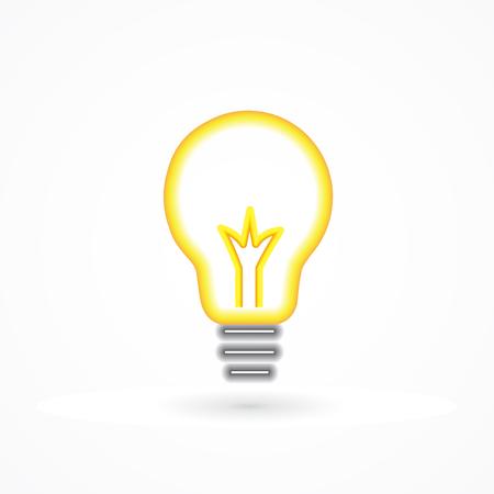 smart goals: Creative idea symbol. Light bulb success concept icon logo vector illustration.