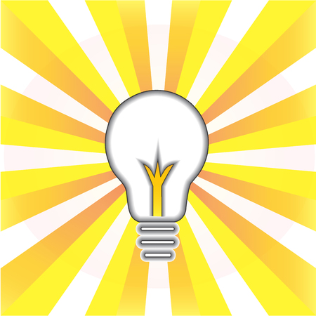 digital: Creative idea symbol. Light bulb success concept icon logo vector illustration.