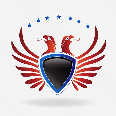 米国イーグル盾