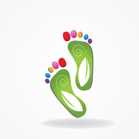 Podiatría icono vector logo Foto de archivo - 81112413