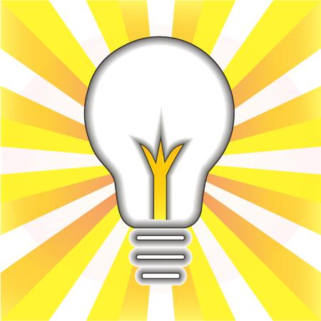Creative idea symbol. Light bulb success concept icon logo vector illustration.