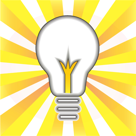Creative idea symbol. Light bulb success concept icon logo vector illustration.