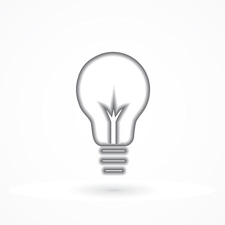 Bulb light logo icon vector