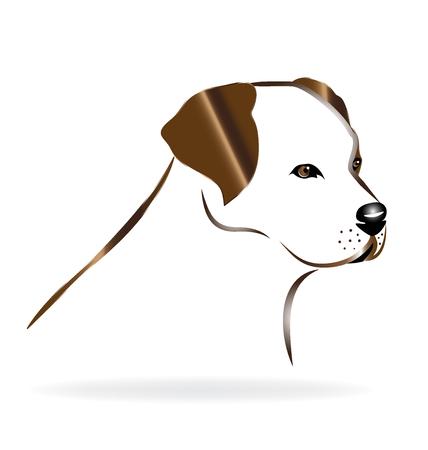purebred: Golden retriever dog head logo