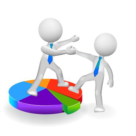 perdidas y ganancias: 3D, empresa  negocio, mentor, ayudando, equipo, socio, hasta, éxito, icono, vector Vectores