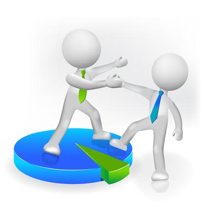 3 D 人成功目標アイコン ベクトルのロゴを友人やパートナーを支援  イラスト・ベクター素材