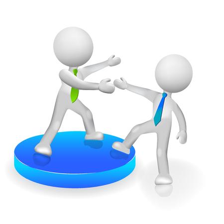 ganancias: 3D personas subiendo o ayudando a éxito icono vector logo Vectores