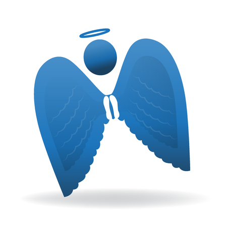 Blue Angel icon silhouette  symbol