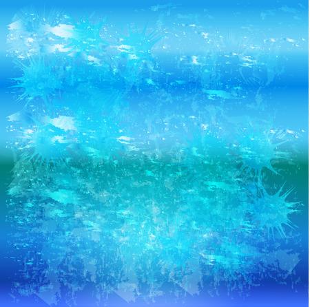 Blue abstract grunge splash ocean sea background vector Illustration